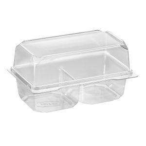 Contenant plastique pour gâteau