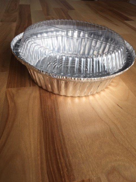 Combo 250/250 contenant aluminium rond et couvercle dôme